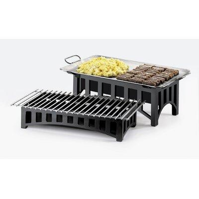 CAL-MIL Bridge Rectangular Stand with Grill 1360-22-13