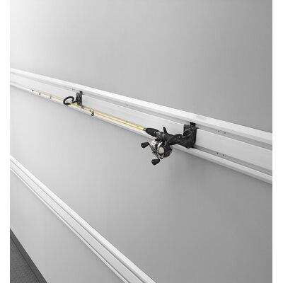 GLADIATOR Fishing Pole Holder Garage Hook Wall Mounted Fi...