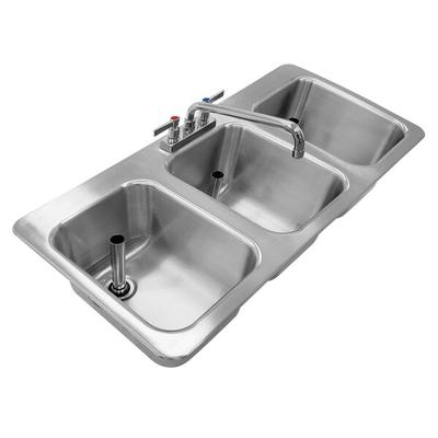 Advance Tabco DBS-3 Three Compartment Stainless Steel Dro...