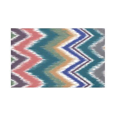 E By Design Ikat-arina Chevron Print Throw Blanket HSN142...