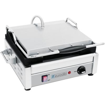 Eurodib SFE02340 Single Panini Grill with Smooth Plates -...