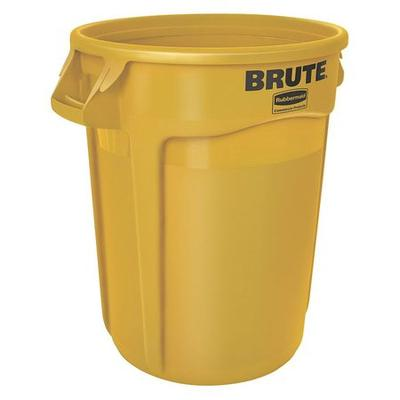 Brute 20 gal. Yellow Polyethylene Round Utility Container...