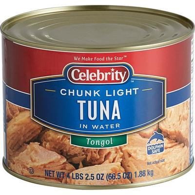 Tongol Chunk Light Tuna 66.5 oz. - 6/Case