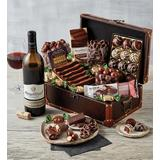Chocolate Treasure Box with Wine - Gift Baskets  Fruit Baskets - Harry and David   White Wine Red