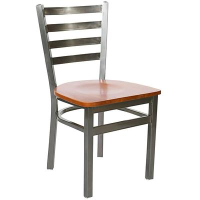 BFM Seating 2160CCHW-CL Lima Steel Side Chair with Cherry...