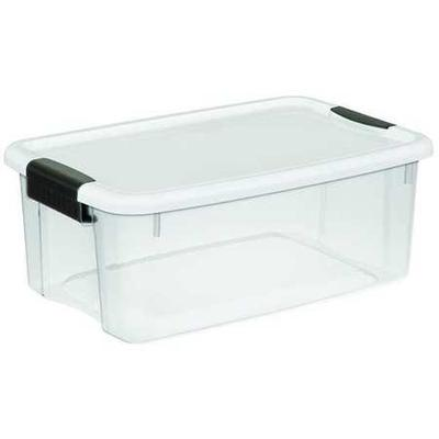 Clear/White Storage Tote, 19849806, Sterilite