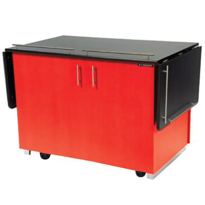 Lakeside 6850 Mobile Breakout Dining Station with Red Lam...