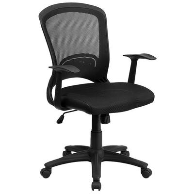 FLASH Furniture HL-0007-GG Mid-Back Black Mesh Office Cha...