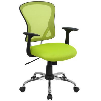FLASH Furniture H-8369F-GN-GG Mid-Back Green Mesh Office ...