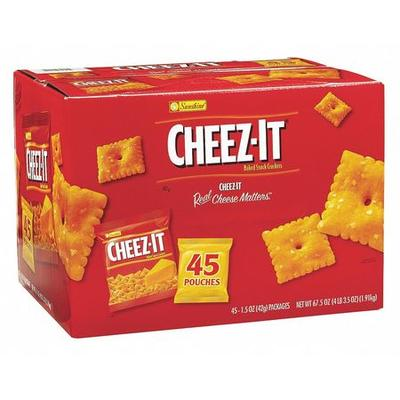 CHEEZ-IT 827553 Sunshine(R) Cheese Crackers,1.5 oz.,PK45 ...