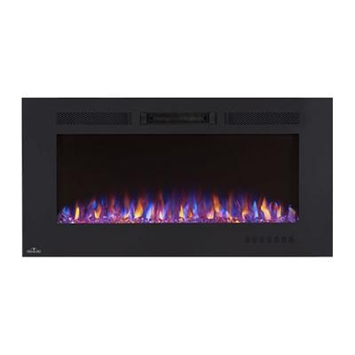 Napoleon NEFL42FH 5000 BTU 42 Inch Wide Wall Mounted Electric Fireplace with Rem Black
