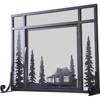 Plow & Hearth Fireplace Screen 13382 BK