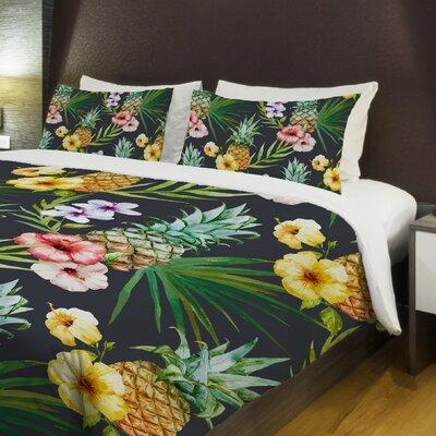 One Bella Casa Hawaiian Pineapples Lightweight Duvet Cove...