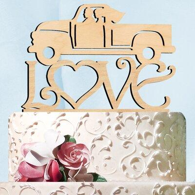 aMonogramArtUnlimited Pickup Truck Love Wooden Cake Toppe...