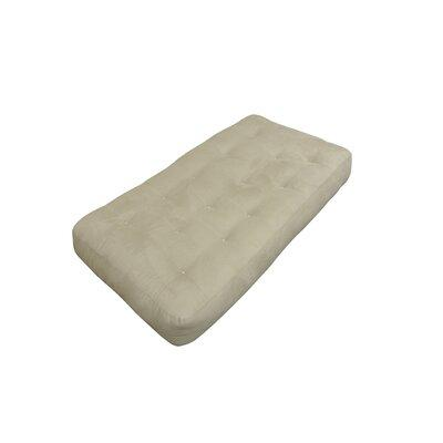 Gold Bond 707 8 in. All Cotton Chair Microfiber Futon Mattress Tan