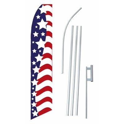 Neoplex Stars and Stripes Swooper Flag and Flagpole Set S...