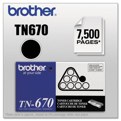Brother TN670 High-Yield Toner Cartridge, Black
