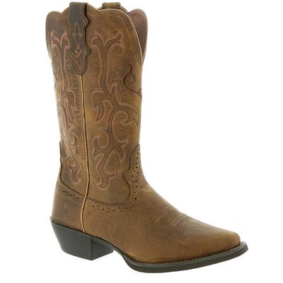 Justin Stampede Collection L2561 - Womens 7 Tan Boot C