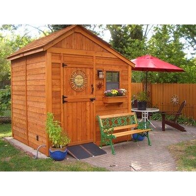 Outdoor Living Today Sunshed 8 ft. x 8 ft. Wooden Storage...
