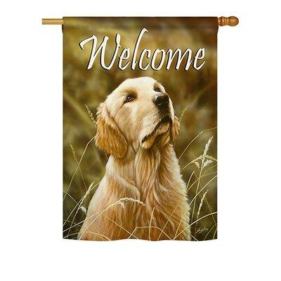 Breeze Decor Yellow Lab 2-Sided Vertical Flag 60074 Size:...