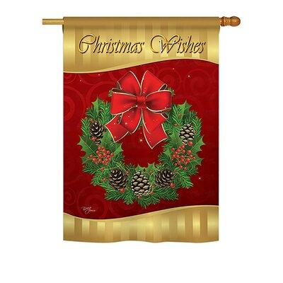 Breeze Decor Christmas Wishes 2-Sided Vertical Flag 64078...