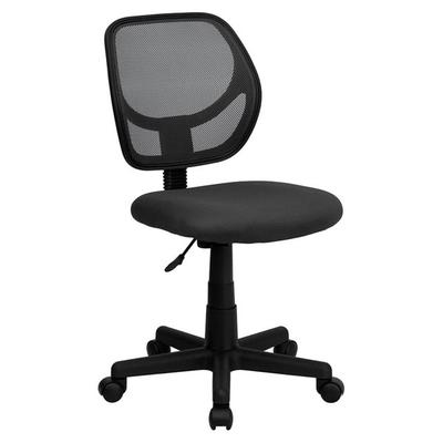 FLASH Furniture WA-3074-GY-GG Mid-Back Gray Mesh Office /...