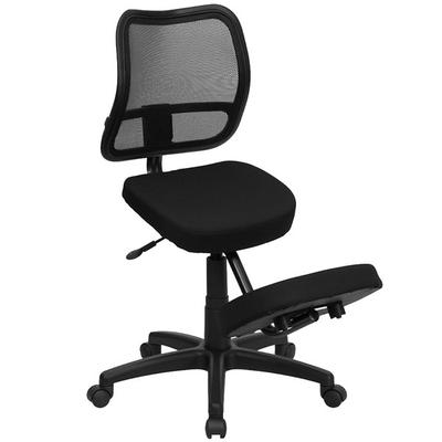 FLASH Furniture WL-3425-GG Black Ergonomic Mobile Kneelin...