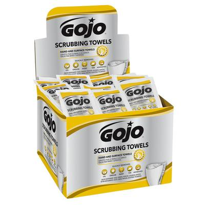Gojo 6380-04 Scrubbing Towels Heavy Duty Wipes 80 Count D...