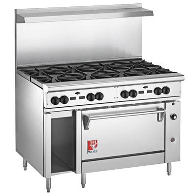 "Wolf C48S-8BN Challenger XL Series Natural Gas 48"" Range ..."