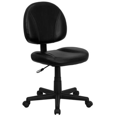 FLASH Furniture BT-688-BK-GG Mid-Back Black Leather Ergon...