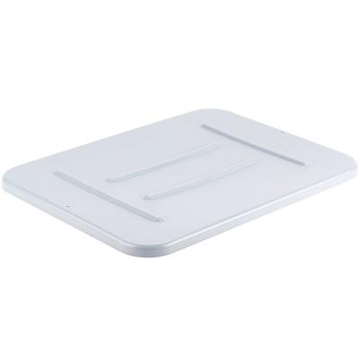 "Rubbermaid FG364800GRAY 22"" x 16 1/2"" x 3/4"" Gray Polyeth..."