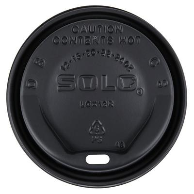 Dart Solo LGXBK2-0004 The Gourmet Lid Black Hot Cup Lid -...