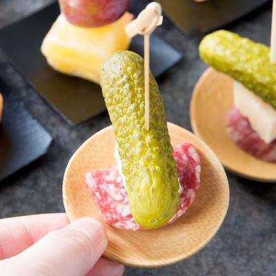 "Tablecraft BAMDRBAM2 2 1/2"" Bamboo Disposable Round Dish ..."
