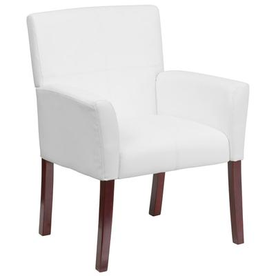 FLASH Furniture BT-353-WH-GG White Leather Executive Side...