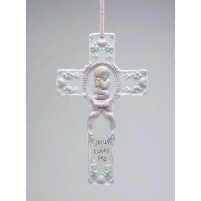 "CosmosGifts ""Jesus Loves Me"" Baby Cross Shaped Ornament 1..."