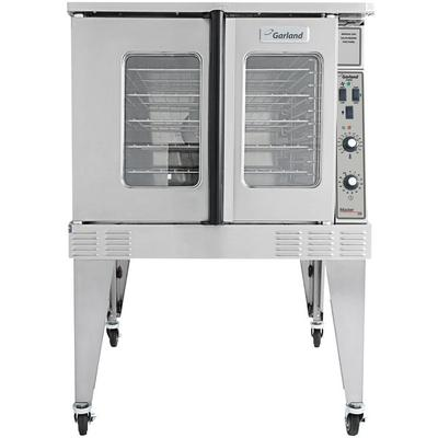"""Garland MCOES-10-S 38"""" Master Series Standard Single Convection Electric Full-Size Oven with Simple Control Airbaffling System Energy & Efficiency Management and Porcelain Enameled Oven in Stainless Steel"""