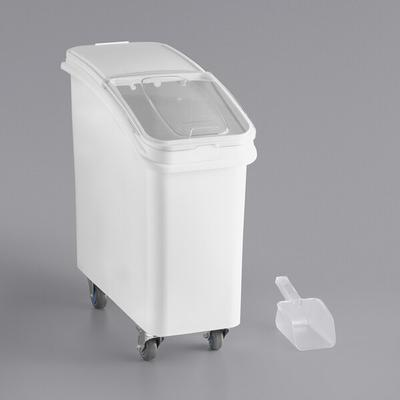 Baker's Mark 21 Gallon White Mobile Ingredient Storage Bi...