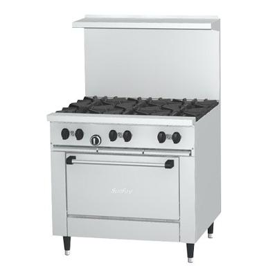 "Garland SunFire Series X36-6R Liquid Propane 6 Burner 36""..."
