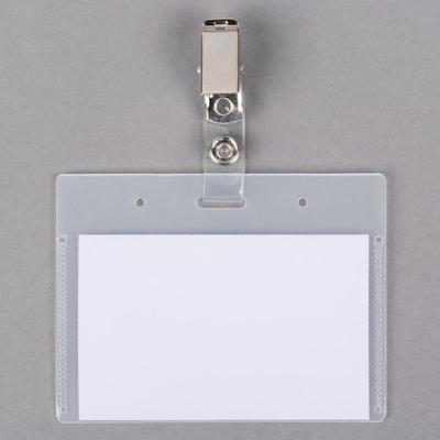 """Universal UNV56006 2 1/4"""" x 3 1/2"""" Deluxe Clip-On Badge H..."""