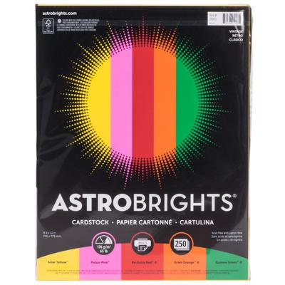 "Astrobrights 21003 8 1/2"" x 11"" Bold Assorted Pack of 65#..."