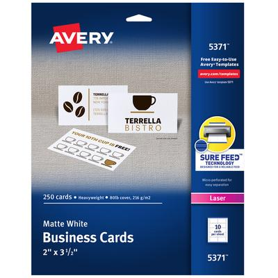 Avery Dennison Printable Microperf Business Cards 25 White