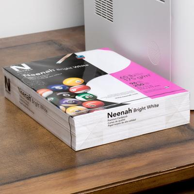 "Neenah Paper 91904 8 1/2"" x 11"" Bright White Pack of 65# ..."