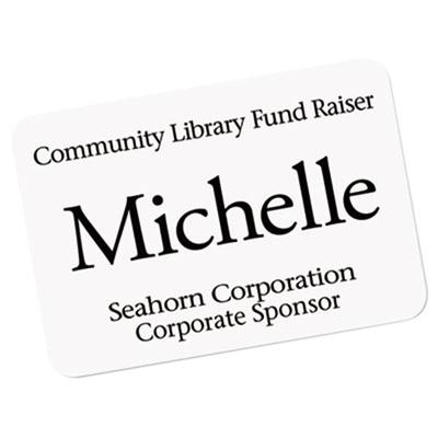 "Avery 45395 2 1/3"" x 3 3/8"" Ecofriendly White Adhesive Na..."