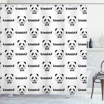 Ambesonne Panda Bow Tie Shower Curtain Set sc_18135 Size:...