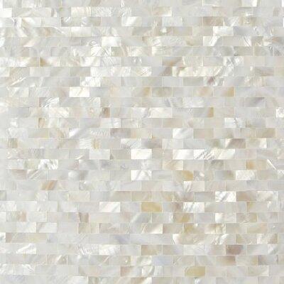"Splashback Tile Lokahi .79"" x .39"" Glass Pearl Shell Mosa..."