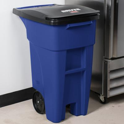 Rubbermaid 1971943 Brute 32 Gallon Blue Standard Rollout ...
