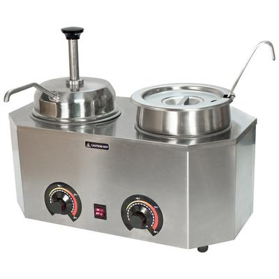 Paragon 2029E Pro-Deluxe Dual 3 Qt. Warmer with Inset, Li...