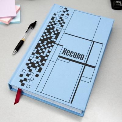 "Adams ARB712CR5 7 5/8"" x 12 1/8"" Blue 500-Page Ledger Book"