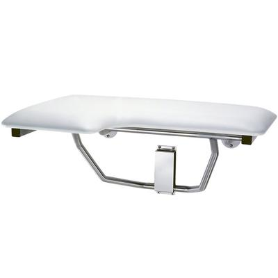 Bobrick B-517 White Right-Handed Folding Shower Seat with...