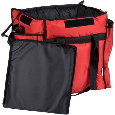 ServIt Insulated Food Delivery Bag, Red Soft-Sided Heavy-...